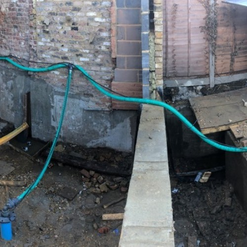 Work completed on central London residential basement dewatering project